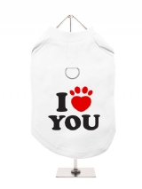 ''I Love You'' Harness-Lined Dog T-Shirt