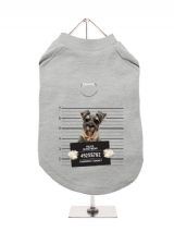 ''Police Mugshot - Schnauzer'' Harness-Lined Dog T-Shirt